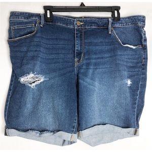 Ava & Viv Shorts - Ava & viv Bermuda 22w stretch jean shorts
